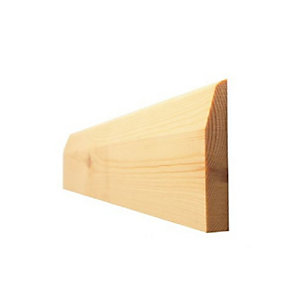 Skirting Board Timber Chamfered & Pencil Round Best Pattern 25mm x 150mm - Finished Size 20mm x 144mm
