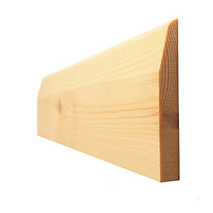 Skirting Board Timber Chamfered & Round/Pencil Round Standard 19mm x 75mm - Finished Size 15mm x 69mm