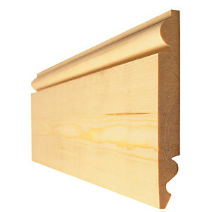 Timber Torus/Ogee Skirting Standard 25mm x 150mm Finished size 20.5mm x 144mm