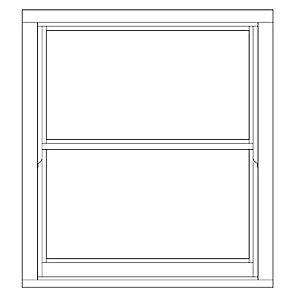 Softwood Sliding Sash 24mm Fully Glazed Timber Window 1080mm x 1195mm LETVS1012