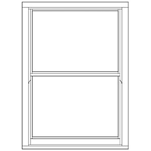 Softwood Sliding Sash 24mm Fully Glazed Timber Window 1080mm x 1495mm LETVS1015