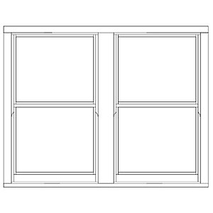 Softwood Sliding Sash 24mm Fully Glazed Timber Window 1710mm x 1345mm LETVS1713