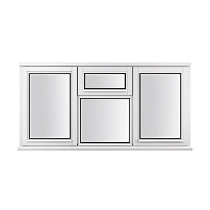 Stormsure Softwood Plain Casement 24mm Fully Glazed Timber Window 1765mm x 1195mm LEW312CVC