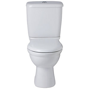 Ideal Alto Close Coupled Cistern With Chrome Plated Push Button White E751401 (Cistern Only)