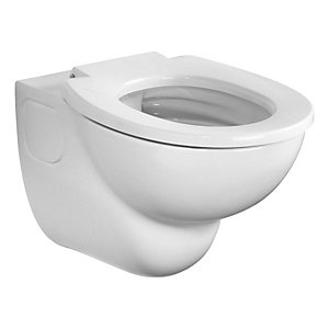 Armitage Shanks Contour 21 Rimless Wall Mounted Toilet Pan with Horizontal Outlet White S307601