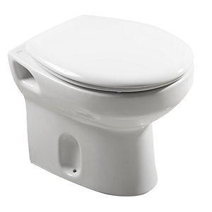 Roca Laura Toilet Pan White + Chrome Fixing Kit A347396000