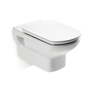 Roca Senso Wall Hung Box Rim Toilet Pan White 346517000