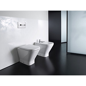 Roca the Gap Back-to-wall Pan with Soft Close Seat