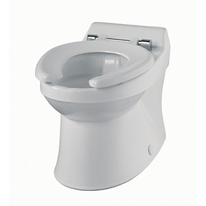 Sola School Rimless 300 Close Coupled Toilet Pan Only SA1512WH