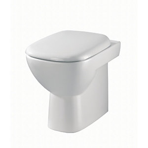 Twyford Moda Back to Wall Toilet Pan White MD1438WH