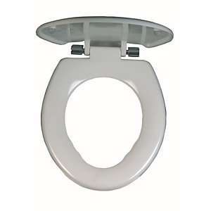 Twyford Avalon Toilet Seat & Cover Chrome Plated Hinge 25mm AV7840WH
