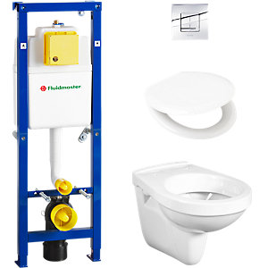 Fluidmaster All In 1 Wall Hung Toilet Pack