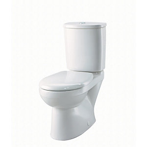 Galerie Close Coupled Toilet Set, Flushwise 4/2.6L (Toilet Pan, Cistern & Seat) GECO42WH
