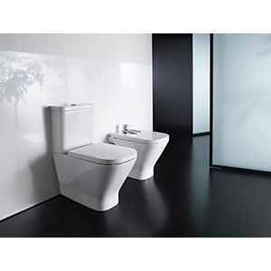 Roca the Gap Cleanrim Toilet with Soft Close Seat