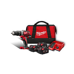 Milwaukee M18BPD-303B 18V Professional Li-Ion Cordless Compact Combi Drill Kit with 3 x 3Ah Batteries