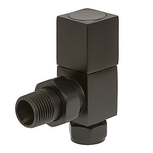 Square Angled Valves Black 105mm x 65mm
