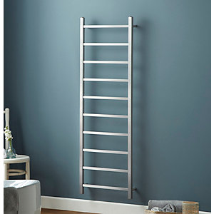 Towelrads Diva Straight Ladder Towel Rail Brushed Stainless Steel 500mm