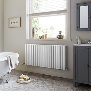 Towelrads Dorney Double Horizontal White Radiator 600mm