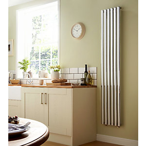 Towelrads Dorney Vertical Chrome Radiator 1800mm