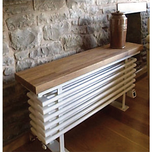 Towelrads Oak Wooden Top Bench Radiator 520mm