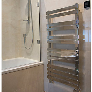 Towelrads Octagon Straight Ladder Towel Rail Chrome 600mm