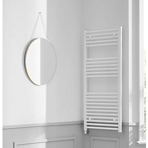 Towelrads Richmond Electric Straight White Towel Rail 1186mm