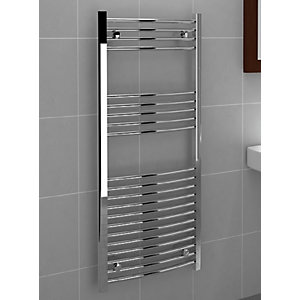Curved Chrome Towel Rail 1200mm x 500mm