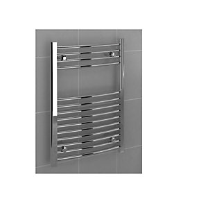 Curved Chrome Towel Rail 800mm x 500mm