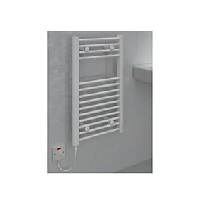 Straight White Towel Rail 800 x 400mm