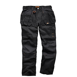 Scruffs Worker Trouser Black 34inW 31inL