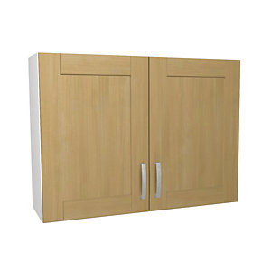 Tulsa Oak Effect Kitchen 1000mm  Wall Unit