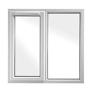 UPVC White Window Left Hand Shield 6  1190mm x 1190mm