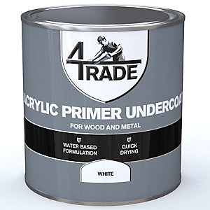4Trade Acrylic Primer Undercoat Paint White 1L
