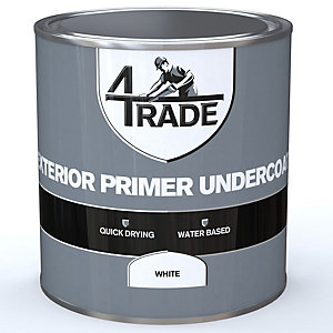 4Trade Exterior Primer Undercoat Paint White 1L