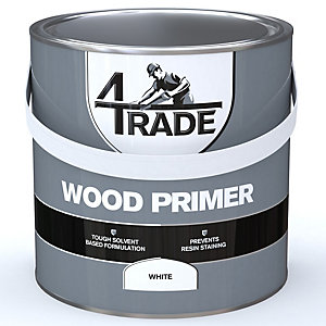 4Trade Wood Primer Paint White 2.5L