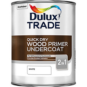 Dulux Quick Drying Wood Primer Undercoat White 1L