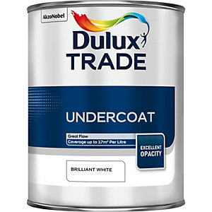 Dulux Trade Undercoat Paint Brilliant White 1L