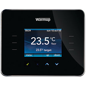 Warmup 3iE Thermostat Piano Black