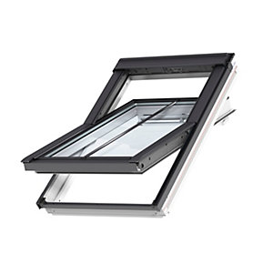 VELUX Conservation Centre Pivot Roof Window and Flashing White Painted GGL D5N2