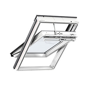 VELUX Integra Electric Centre Pivot Roof Window White Painted GGL 021U