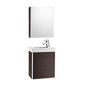Roca Mini Vanity Pack With Mirror Cabinet Wenge 855866154