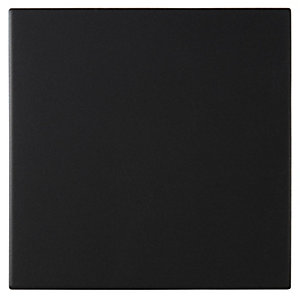 Dorset Woolliscroft Plain Black Porcelain Rex Quarry Tile 148mm x 148mm Pack of 44 DW-RXBLK1515