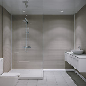 Multipanel Embossed Large Matt Tile White Galaxy 2440mm x 1220mm