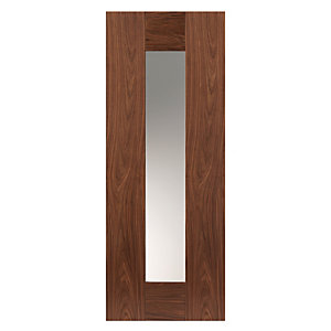 Walnut Axis Prefinished Glazed Internal Door