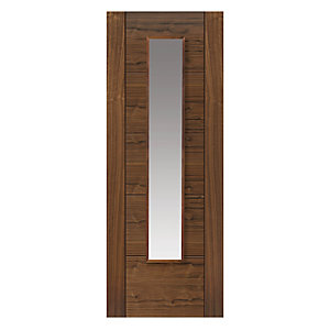 Walnut Emral Prefinished Glazed Internal Door
