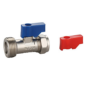 Washing Machine Valve & Check Valve 15mm x 3/4in