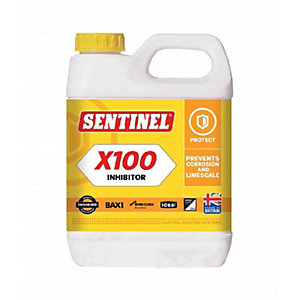 Sentinel X100 Central Heating System Scale Inhibitor Cleaner 1L X100L-12X1L-GB
