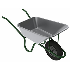 4Trade Galvanised Steel Wheelbarrow 120L