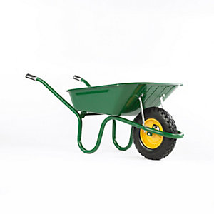 4Trade Puncture Proof Tire Steel Wheelbarrow 90L