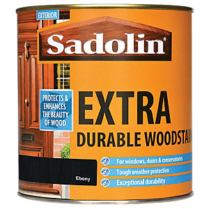 Sadolin Extra Durable Woodstain Ebony 1L
